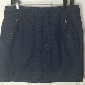 Ann Taylor LOFT,  Blue denim mini skirt, size 8